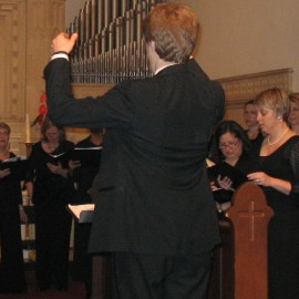 Meridian singing at Emmanuel Episcopal in 2013.
